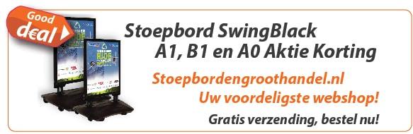 Stoepbord SwingBlack Actie