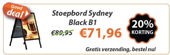 Stoepbord Sydney Black B1