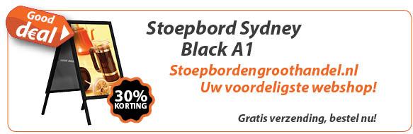 Stoepbord Sydney Black A1 aanbieding