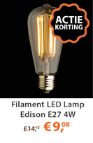 Filament LED lamp Edison