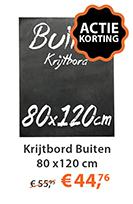 Krijtbord Buiten 80x120cm