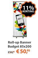 Roll-up Banner Budget 85x200
