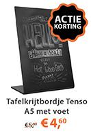 Tafelkrijtbordje Tenso A5 met Voet