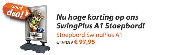 Aanbieding Stoepbord SwingPlus A1