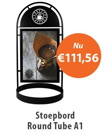 Stoepbord Round Tube A1